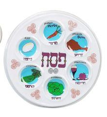 """Plastic Disposable Passover Seder Plates - 10"""" Diameter"""