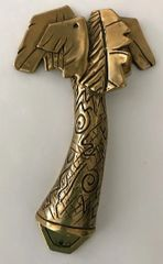 "Mezuzah Case Tree Brass 4"" Long"