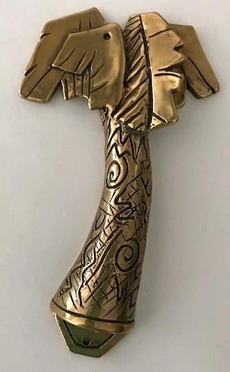 "Mezuzah Case Tree Brass 4"" Long - Kosher Scroll sold separately"