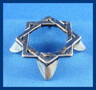 Dreidel Stand Pewter Square 1-1/4 Inches X 1-1/4 Inches