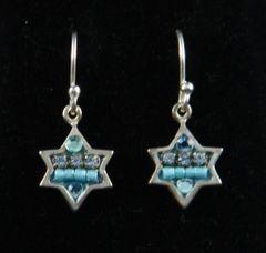 """Earrings Star Crystal Beads - Star is 3/8"""" - by Adaya"""