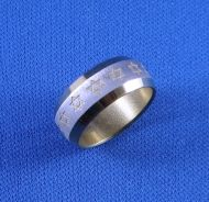 Ring Magen David Gold Stainless Steel
