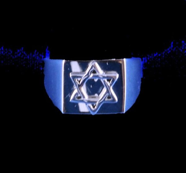 Men's Ring Star of David Silver Size 10