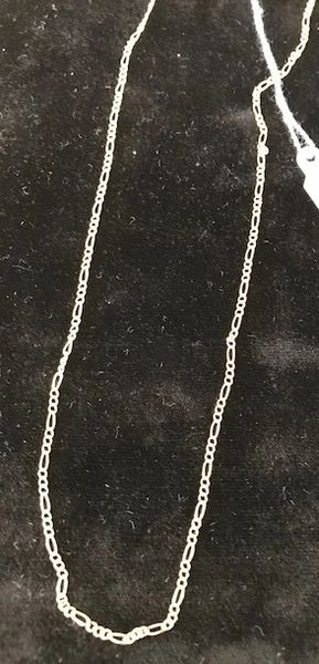 Gold 14 kt Figaro Chain 20""