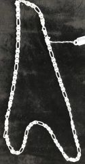 "Sterling Silver Chain Figaro Heavy 24"" Long"