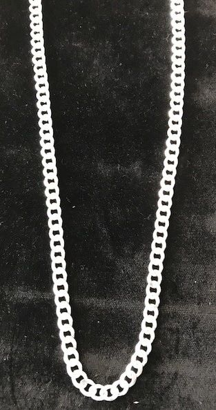 "Sterling Silver Chain Pancer Heavy 24"" Long"