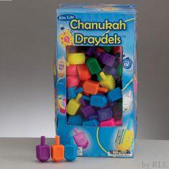 Small Plastic Chanukah Dreidels - Assorted Colors