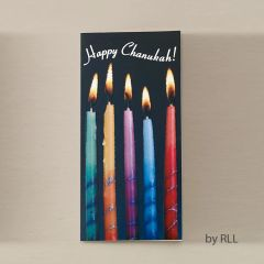 Chanukah Wallet Card - Candles Design
