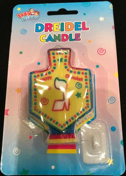 Dreidel Candle