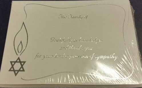 Sympathy Acknowledges cards - Pack of 8 includes Envelopes