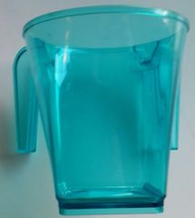 Wash Cup Plastic Hameshubach Size:5.5 Inches H , Available in Teal