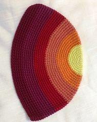 """Kippah Frik Large Multicolor 10"""" Diameter, Made In Israel"""