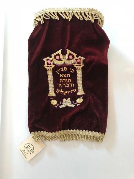 Torah Cover Velvet Burgundy w/Gold