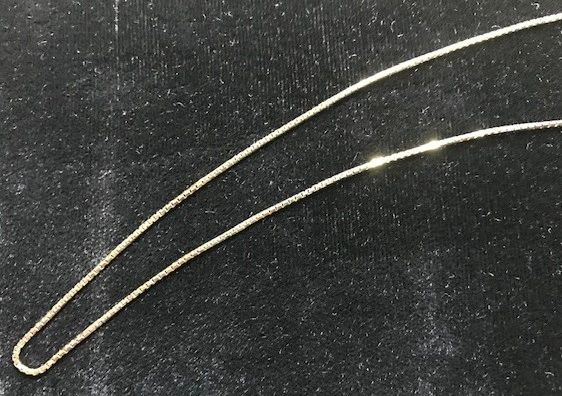 20 Inches Gold Shiny Box Chain 14 KT