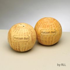 Ceramic Matzah Ball Salt & Pepper Shaker Set