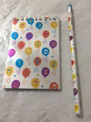 Alef-Bet Pencils/Memo Pads Set - Assorted Designs