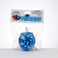 Squish Dreidel TM Filled With Blue And White Gel Beads