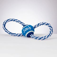 """Chewdaica"" Chanukah Rope Dog Toy"