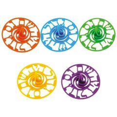 "Colorful Plastic Dreidel--3.5"" ""Nes Gadol Haya Sham"""