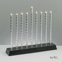 Diamond Cut LED Menorah with Exciting Lighting Options