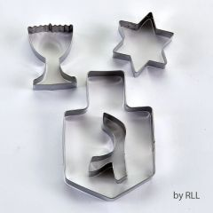 Chanukah S/S Cookie Cutters - 4 Assorted Shapes
