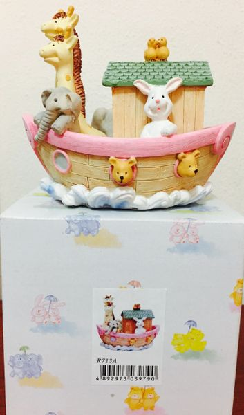 Noah's Ark Tzedakah Pink