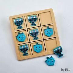 Chanukah Wood Tic Tac Toe Game