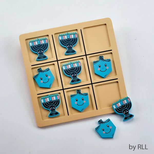 Chanukah Wood Tic Tac Toe Game