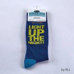 "Chanukah Socks Adult ""Light up the night"""