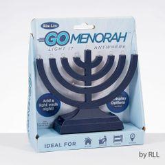 Go Menorah- Light It Anywhere, battery/USB,navy,box