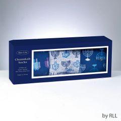 Chanukah Socks Gift Box, Includes 3 Pr Adult Crew Socks