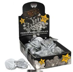 Chanukah Gelt Dark Chocolate Coins - Box of 24 bags - NUT FREE /Parve