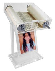 Lucite Torah Stand with Picture Frame