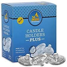 Disposable Candle Holders Aluminum Box Of 40 or 50 Drippers Extra Heavy/Extra Deep