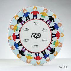 Kids Ceramic Seder Plate
