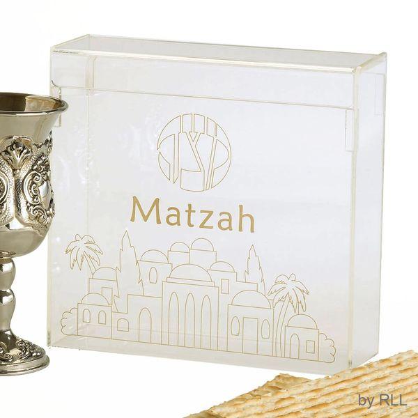 Acrylic Flip Top Matzah Box