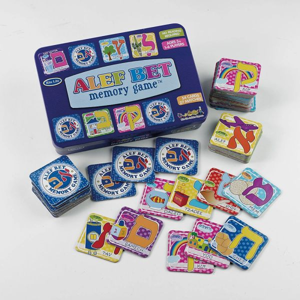 Alef-Bet Memory Game in Collectible Tin