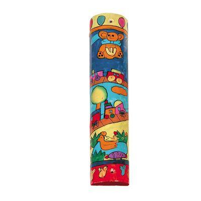 Small Wooden Mezuzah Round- Toys