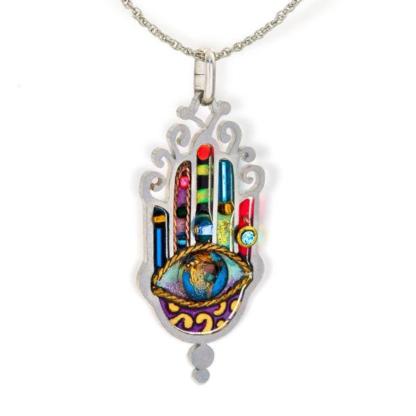 Seeka Ornate Hamsa Necklace