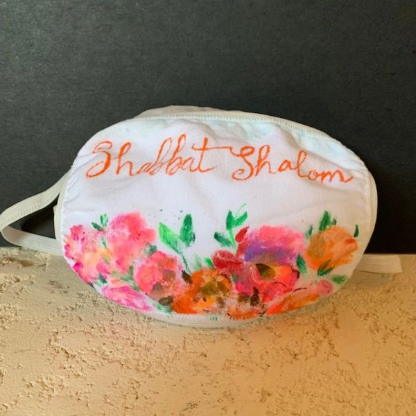 """Shabbat Shalom"" Hand Painted Face Masks Our Design or Yours"