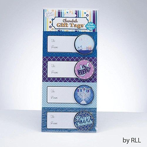 3-d Chanukah Gift-Tags Self Stick 8/pack