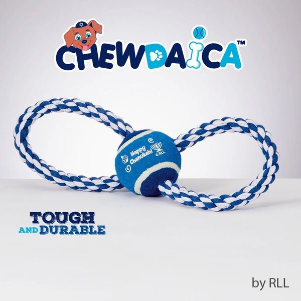 """Chewdaica""™ Chanukah Rope Dog Toy"
