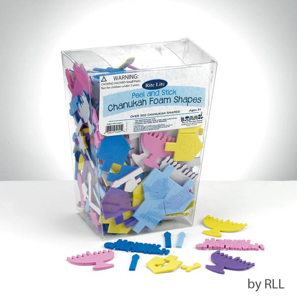 Peel & Stick Chanukah Foam Shapes