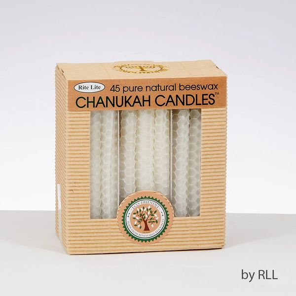 Chanukah Candles - Natural Color Honeycomb Beeswax