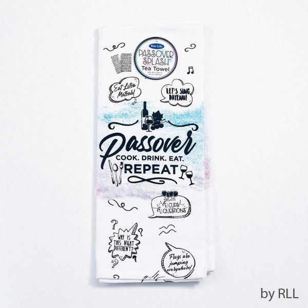 """Passover Splash"" Tea towel"