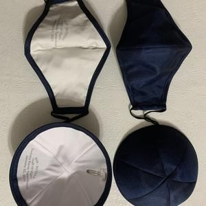 Personalized Raw Silk Kippah and Mask Sets - for Bar/Bat Mitzvah, Wedding and More/Price per Dozen