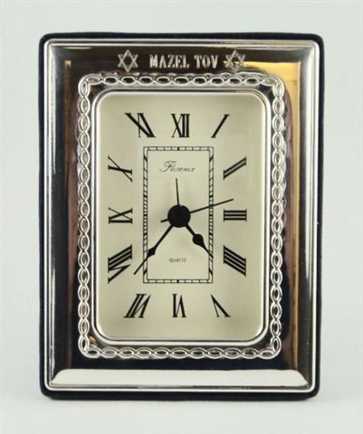 Desk Clock, Sterling Silver