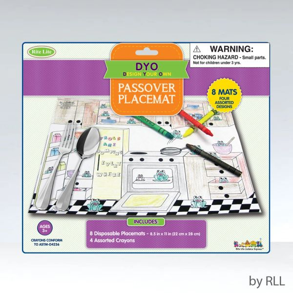 Passover Coloring Placemat Kit