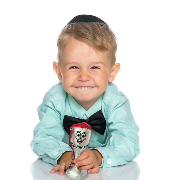 Plush Kiddush Kid with Silver Accents