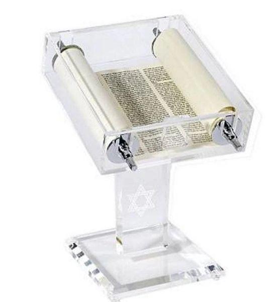 Acrylic Torah Stand w/Moveable Torah and Pedestal